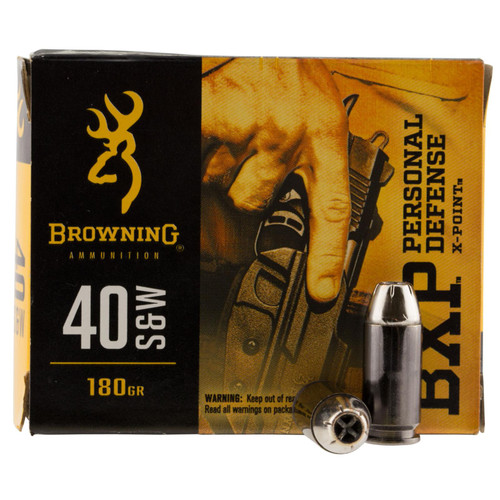 Browning Ammo B191700401 BXP 40 SW 180 GR Hollow Point HP 20 Box