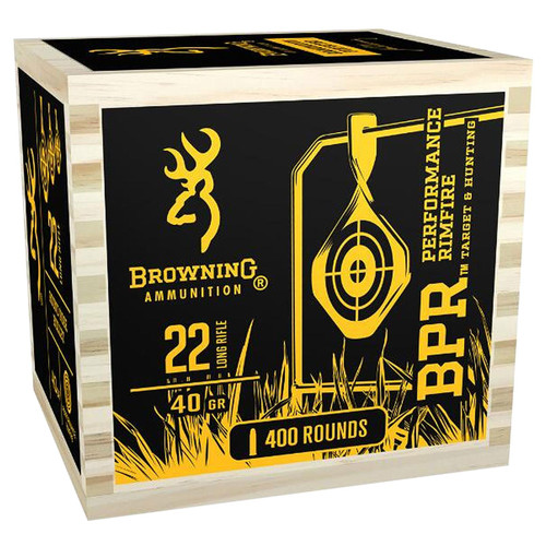Browning Ammo B194122WB BPR 22 LR 40 GR Lead Round Nose LDRN 400 Box