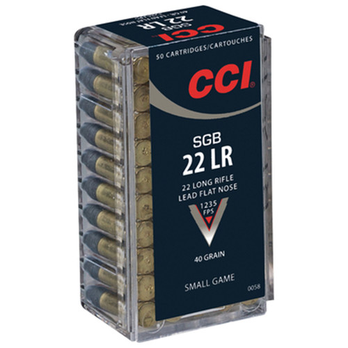CCI 0058 Small Game 22 Long Rifle LR 40 GR Lead Flat Nose 50 Box