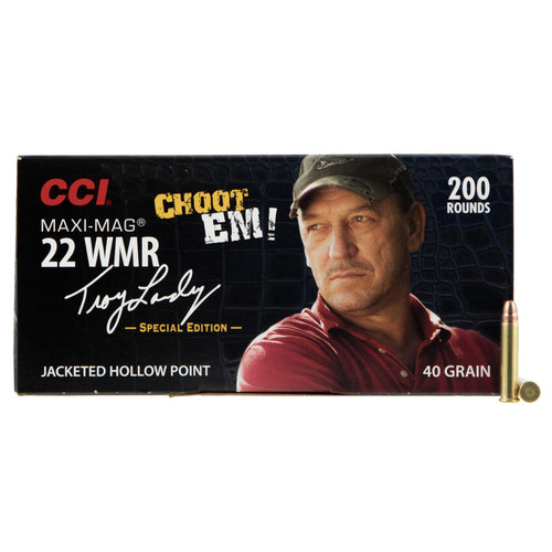 CCI 958 Varmint Signature MaxiMag 22 Winchester Magnum Rimfire WMR 40 GR Jacketed Hollow Point 200 Box