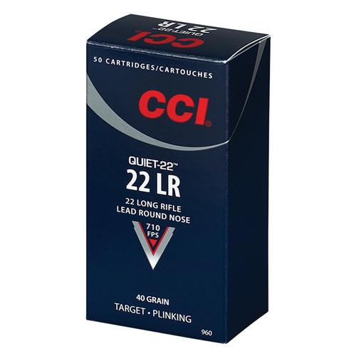 CCI 960 Target Plinking Quiet22 22 LR 40 GR Lead Round Nose 50 Box