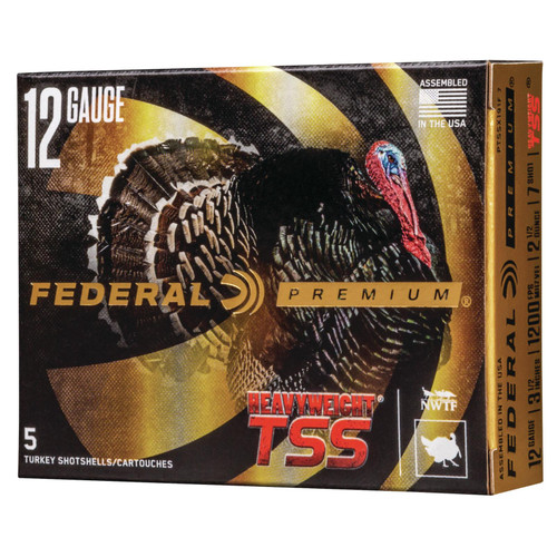 Federal PTSSX191F9 Premium Heavyweight TSS 12 Gauge 3.5 2 14 oz 9 Shot 5 Box