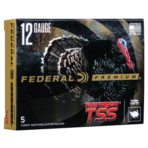Federal PTSSX195F810 Premium Heavyweight TSS 12 Gauge 3.5 2 14 oz 810 Shot 5 Box