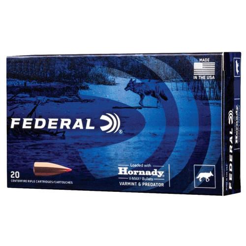 Federal V223VM53 Varmint Predator 223 Rem5.56NATO 53 GR Hornady VMax VMX 20 Box