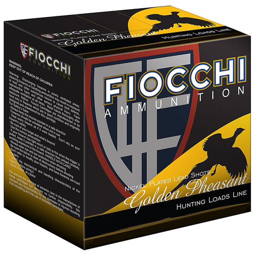 Fiocchi 12GPX5 Extrema Golden Pheasant 12 Gauge 2.75 1 38 oz 5 Shot 25 Box
