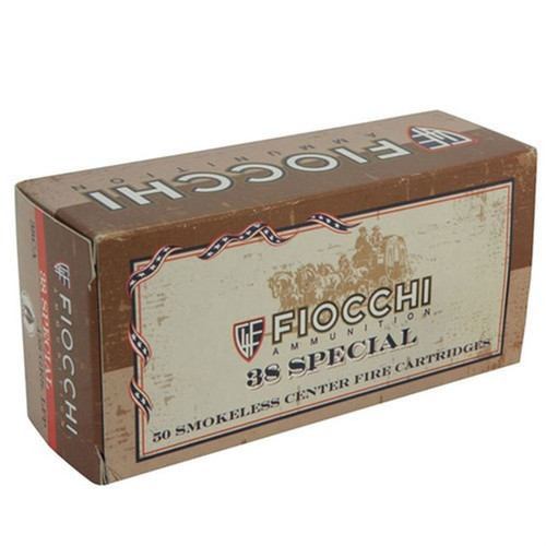 Fiocchi 38CA Shooting Dynamics 38 Special 158 GR Lead Round Nose Flat Point 50 Box