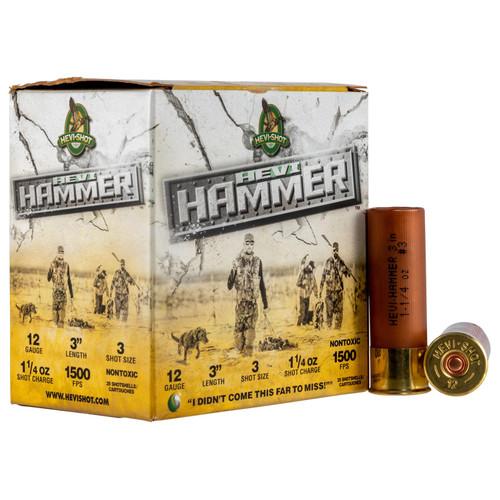 Hevishot 28003 HeviHammer 12 Gauge 3 1 14 oz 3 Shot 25 Box