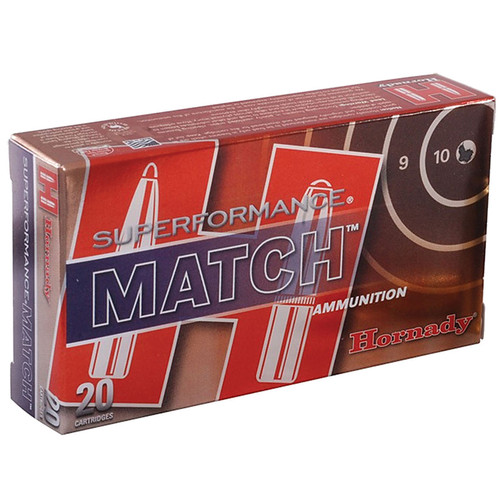 Hornady 80264 Superformance Match 223 Remington 75 GR Boat Tail Hollow Point Match 20 Box