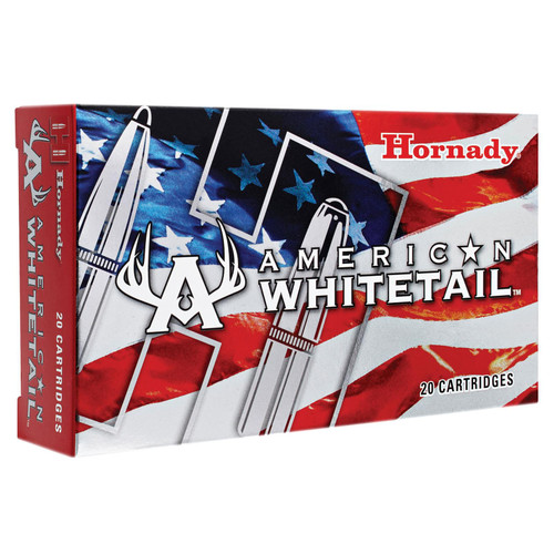 Hornady 80904 American Whitetail 308 Winchester7.62 NATO 165 GR InterLock SP 20 Box