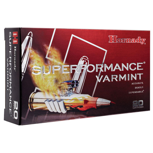 Hornady 83366 Superformance Varmint 22250 Remington 50 GR VMax 20 Box