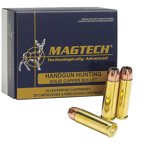 Magtech 500A Sport Shooting Pistol Revolver Cartridges 500 Smith Wesson Magnum 400 GR SemiJacketed Soft Point 20 Box