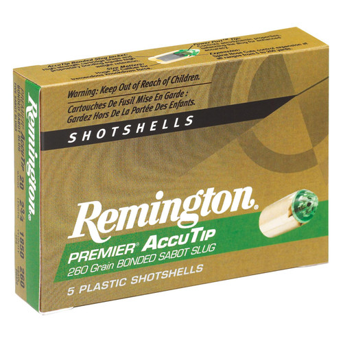 Remington Ammunition PRA20 Premier Accutip 20 Gauge 2.75 260 GR 5 Box