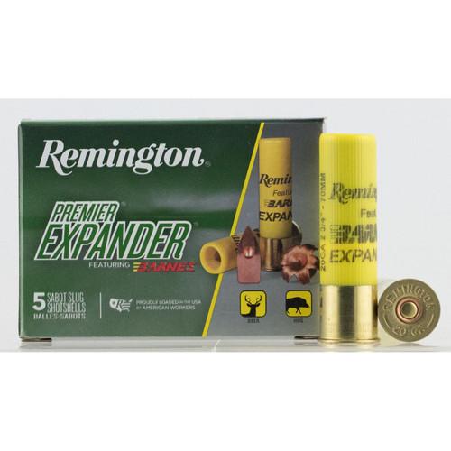 Remington Ammunition PRX20 Premier Expander 20 Gauge 2.75 250 GR 5 Box