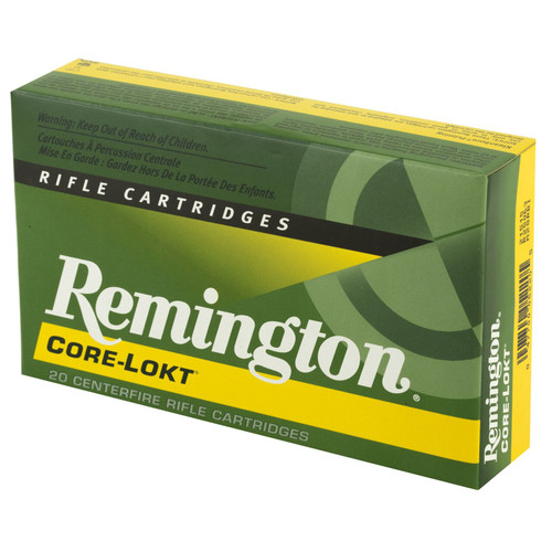 Remington Ammunition R25063 CoreLokt 2506 Remington 120 GR CoreLokt Pointed Soft Point 20 Box
