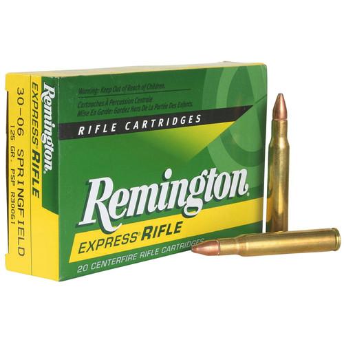 Remington Ammunition R30061 CoreLokt 3006 Springfield 125 GR Pointed Soft Point PSP 20 Box