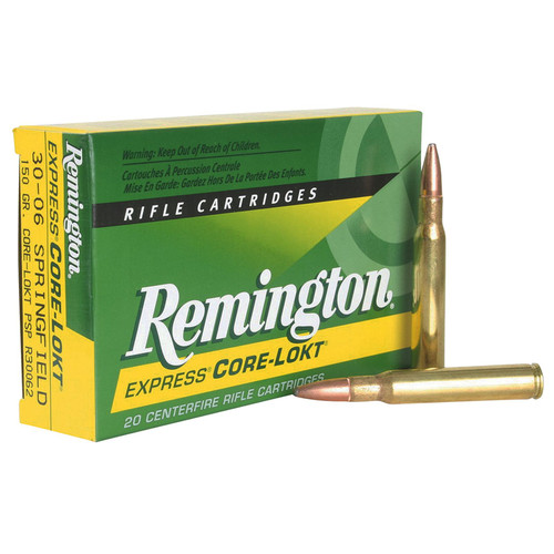 Remington Ammunition R30062 CoreLokt 3006 Springfield 150 GR CoreLokt Pointed Soft Point 20 Box
