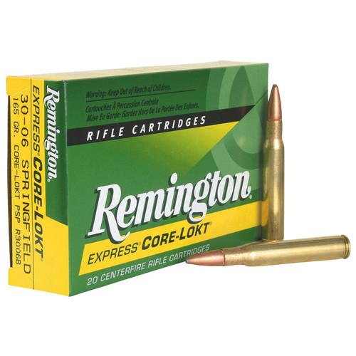 Remington Ammunition R3006B CoreLokt 3006 Springfield 165 GR CoreLokt Pointed Soft Point 20 Box