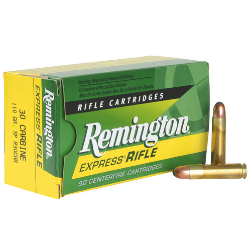 Remington Ammunition R30CAR CoreLokt 30 Carbine 110 GR CoreLokt Soft Point 50 Box