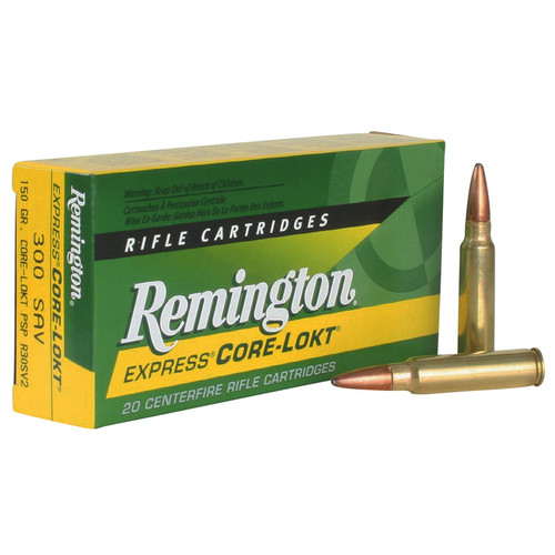 Remington Ammunition R30SV2 CoreLokt 300 Savage 150 GR CoreLokt Pointed Soft Point 20 Box