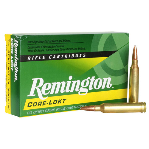 Remington Ammunition R7MM2 CoreLokt 7mm Rem Mag 150 GR CoreLokt Pointed Soft Point 20 Box