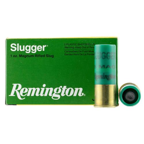 Remington Ammunition S12SRS Slugger 12 Gauge 2.75 1 oz 5 Box