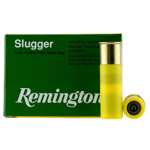 Remington Ammunition SP20RS Slugger 20 Gauge 2.75 58 oz 5 Box
