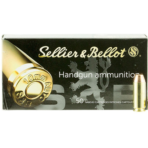 Sellier Bellot SB10A Handgun 10mm Auto 180 GR Full Metal Jacket FMJ 50 Box