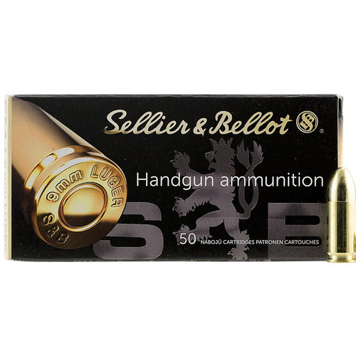 Sellier Bellot SB9A Handgun 9mm Luger 115 GR Full Metal Jacket FMJ 50 Box