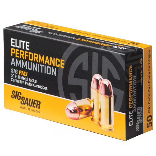 Sig Sauer E357MB50 Elite Ball 357 Mag 125 GR Full Metal Jacket FMJ 50 Box