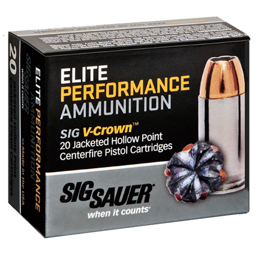 Sig Sauer E357S120 Elite VCrown 357 Sig 125 GR Jacketed Hollow Point JHP 20 Box
