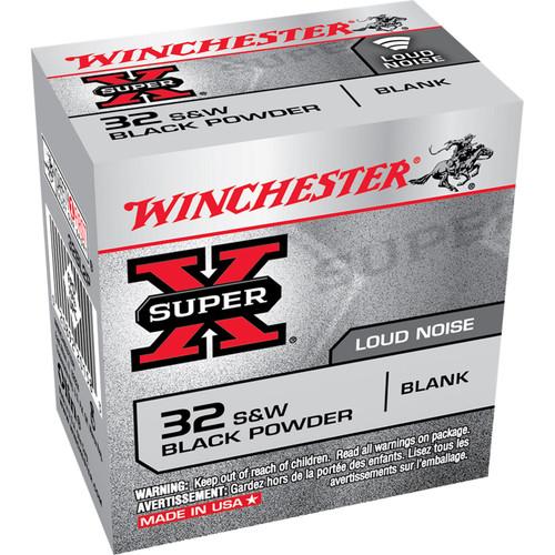 Winchester Ammo 32BL2P SuperX Black Powder Blank 32 SW 50 Box