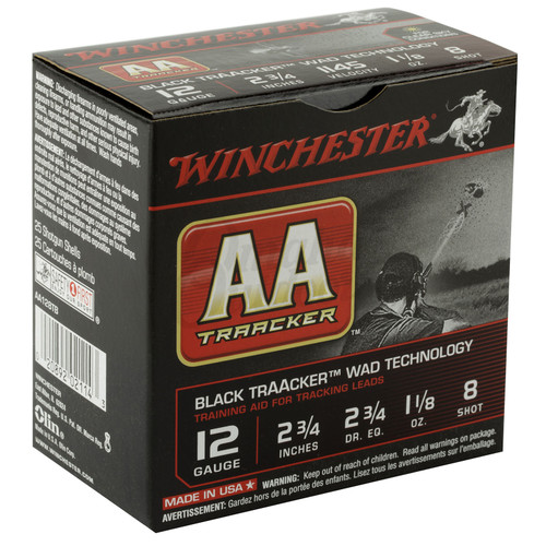 Winchester Ammo AA128TB AA Orange Traacker Wad Tech 12 Gauge 2.75 1 18 oz 8 Shot 25 Box