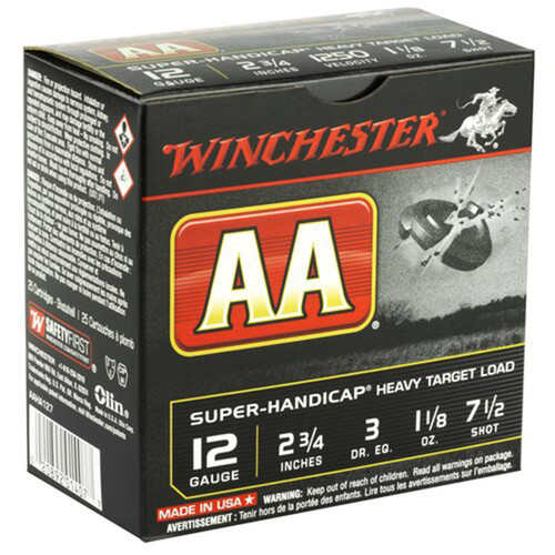 Winchester Ammo AAHA127 AA Super Handicap 12 Gauge 2.75 1 18 oz 7.5 Shot 25 Box