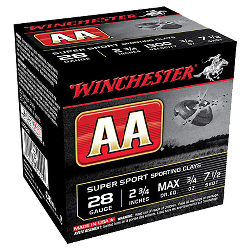 Winchester Ammo AASC287 AA Super Sport 28 Gauge 2.75 34 oz 7.5 Shot 25 Box