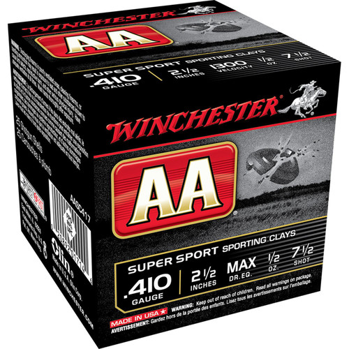 Winchester Ammo AASC417 AA Super Sport 410 Gauge 2.5 12 oz 7.5 Shot 25 Box