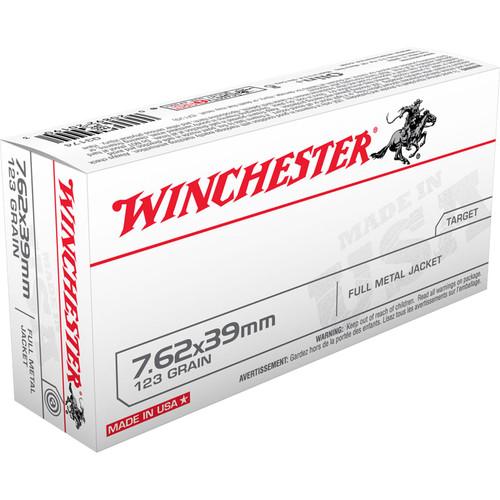Winchester Ammo Q3174 USA 7.62X39mm 123 GR Full Metal Jacket FMJ 20 Box