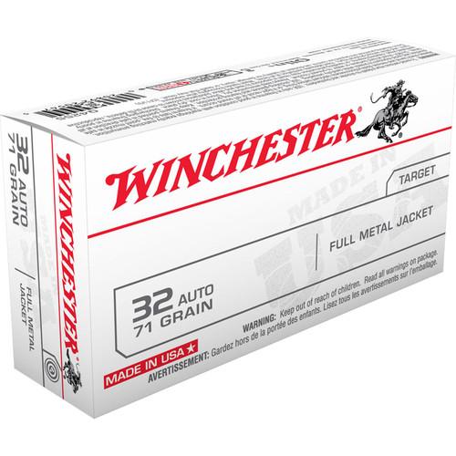 Winchester Ammo Q4255 USA 32 ACP 71 GR Full Metal Jacket FMJ 50 Box