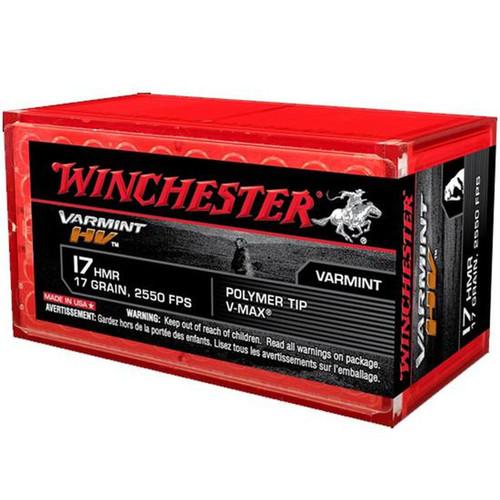Winchester Ammo S17HMR1 Varmint HV 17 HMR 17 GR VMax 50 Box