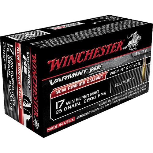 Winchester Ammo S17W20 Varmint HV 17 WSM 20 GR Polymer Tip 50 Box