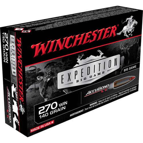 Winchester Ammo S270CT Expedition Big Game 270 Winchester 140 GR AccuBond CT 20 Box