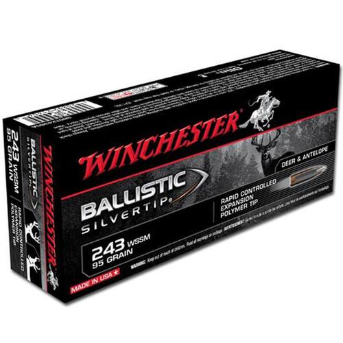 Winchester Ammo SBST243SSA Ballistic Silvertip 243 WSSM 95 GR Polymer Tip 20 Box