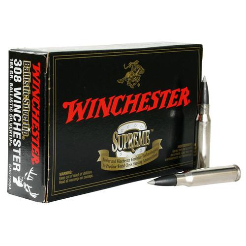 Winchester Ammo SBST308A Ballistic Silvertip 308 Winchester 168 GR Polymer Tip 20 Box