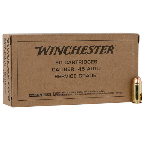Winchester Ammo SG45W USA 45 ACP 230 GR Full Metal Jacket FMJ 50 Box