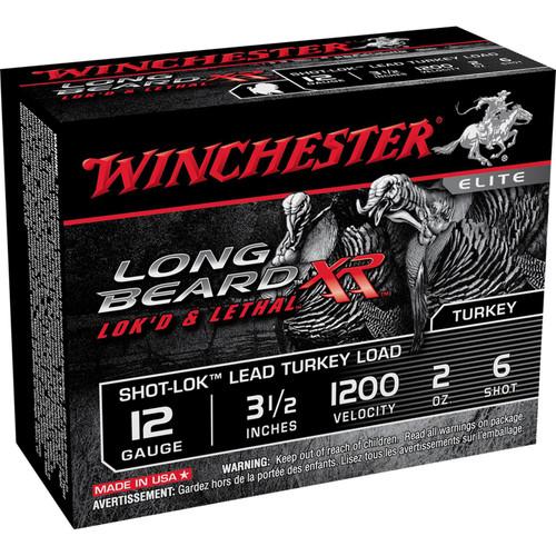Winchester Ammo STLB12L6 Long Beard XR ShotLok 12 Gauge 3.5 2 oz 6 Shot 10 Box