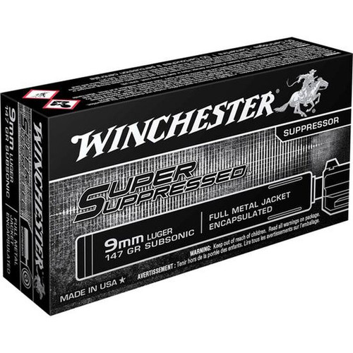 Winchester SUP9 SS 9mm 147 GR FMJ 50 Rounds