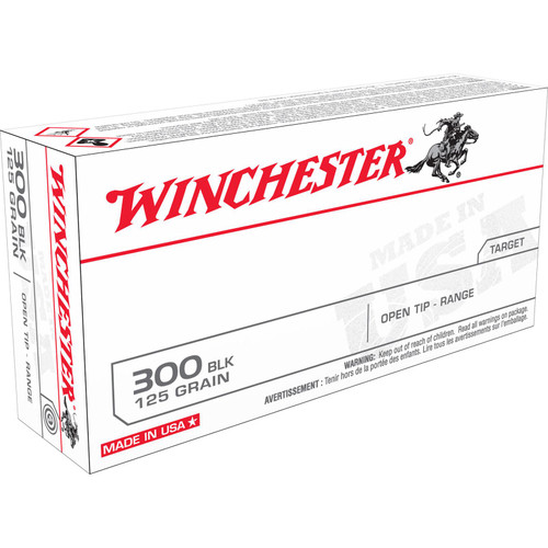 Winchester Ammo USA300BLK USA 300 AAC Blackout 125 GR Open Tip Range 20 Box