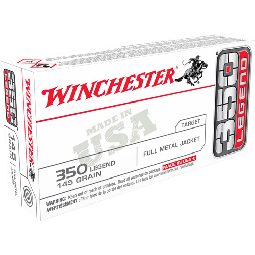 Winchester Ammo USA3501 USA 350 Legend 145 GR Full Metal Jacket FMJ 20 Box