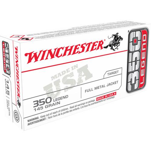 Winchester Ammo USA3501 USA 350 Legend 145 GR Full Metal Jacket FMJ 20 Box