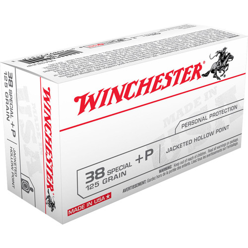 Winchester Ammo USA38JHP USA 38 Special P 125 GR Jacketed Hollow Point JHP 50 Box
