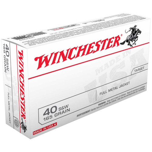 Winchester Ammo USA40SW USA 40 SW 165 GR Full Metal Jacket FMJ 50 Box